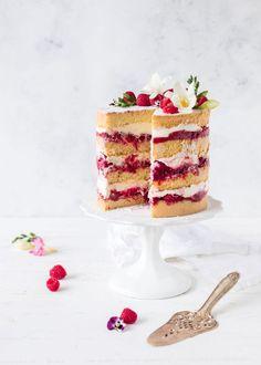 raspberry rhubarb cake