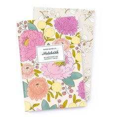 Notebook Set: Royal Rose Gold + Principessa by Paper Raven Co. 48 Lined Pages on Recycled Paper.