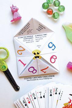 Summer Fun Ideas| Free Printable Cootie Catcher Kids Game