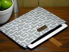 """ipad sleeveipad by caseinpointe - """"Ant Maze"""" fabric by Patty Sloniger"""
