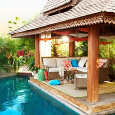 20 Swimming Pool Ideas Beautiful - Increasing Your Swimming Pool Area. With the summer swimming season just around the corner, nows the perfect time to renovate that backyard and install a swimming pool. Above Ground Pool Landscaping, Backyard Pool Landscaping, Backyard Pool Designs, Above Ground Swimming Pools, Swimming Pools Backyard, Swimming Pool Designs, In Ground Pools, Landscaping Ideas, Backyard Ideas