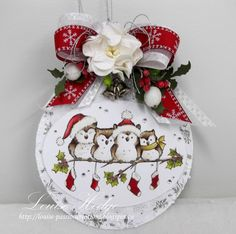 Good day,    We have a new challenge starting at Paradise of Stamps,  our theme SNOW         For the shape of my DT card, I used Sizzix Orna...