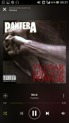 """Pantera - Walk - """"...You can't be something you're not Be yourself by yourself, stay away from me... A lesson learned in life, known from the dawn of time Respect, walk, what did you say? Respect, walk, are you talking to me? Are you talking to me?"""""""