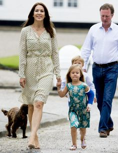 Princess Josephine with her mother Crown Princess Mary of Denmark, broke her arm after falling from a horse during a riding lesson at the family's summer residence Gråsten Palace last Sunday-July 12, 2015