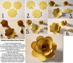 bits of paper scallop circle maker flower tutorial uses creative memories punches