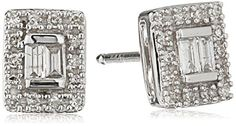 10k White Gold Baguette Diamond Stud Earrings (1/10cttw, I-J Color, I2-I3 Clarity)  http://stylexotic.com/10k-white-gold-baguette-diamond-stud-earrings-110cttw-i-j-color-i2-i3-clarity/