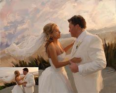 Fine Art Original Oil Paintings. Wedding Custom Portrait Oil Painting on Canvas Traditional Art Ultimate Gift.