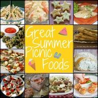 Great Summer Picnic Foods Roundup. I am pinning this two places just so ya know- got to keep it organized..lol because some ideas here would work great for lunch at home  too..