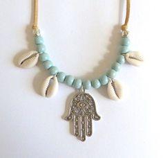Bijoux Bohème vente collier de coquillages par beachcombershop