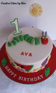 The Very Hungry Caterpillar Birthday Cake by Creative Cakes by Alex, Melbourne, Victoria, Australia. You'll find this Cake Appreciation Society Member in our Directory at www.cakeappreciationsociety.com