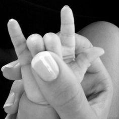 mão de bebê