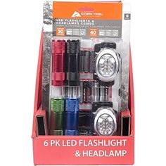 Ozark Trail 6 LED Flashlight and 8 LED Headlamp Combo 18 AAA Batteries 6 Pack *** You can find more details by visiting the image link.(This is an Amazon affiliate link and I receive a commission for the sales)