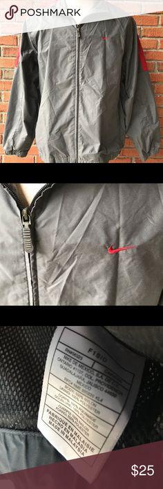 ae977ed28 Vintage Nike Windbreaker Jacket Mens Large Gray Vintage Nike Windbreaker Jacket  Full-Zip Up Mens Size Large (L) Gray & Red EUC Nike Jackets & Coats ...