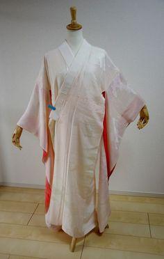 Kimono Dress Japan Geisha costume used Vintage Furisode Nagajyuban KDJM-N0001