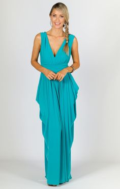 Aphrodite Maxi Dress - Aqua - P.S. Frocks