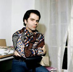 Karl Lagerfeld, 1972.