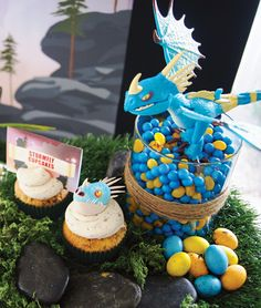 Dragon movie theme:How to Train Your Dragon Birthday Party Dessert Table - Fiery Treats