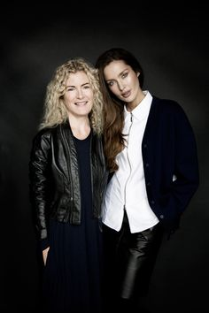 Carolyn Donnelly and Roz Purcell, both wearing Carolyn Donnelly The Edit, available exclusively at Dunnes Stores What To Wear, Women Wear, Dressing, Leather Jacket, Fashion Design, Shopping, Collection, Studded Leather Jacket, Leather Jackets