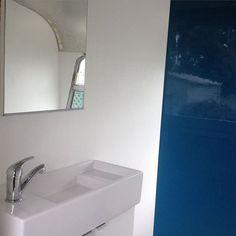 A bit more bathroom progress #bedfordbus #tinyhouse #busconversion #busliving #busrenovation