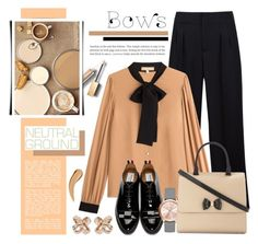 """""""Cool Neutrals & Bows"""" by anyasdesigns ❤ liked on Polyvore featuring Maison Margiela, Michael Kors, Thom Browne, Burberry, Kate Spade and Ted Baker"""