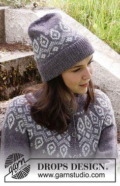 Iced Petals Hat / DROPS 214-16 - Gratis strikkeopskrifter fra DROPS Design Drops Design, Cable Knitting Patterns, Free Knitting, Crochet Patterns, Magazine Drops, Knit Crochet, Crochet Hats, Labor, Crochet Diagram