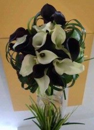 Wedding Flowers - Black and White Calla Lilies it is... - PB2MYJ's Green Wedding by Color Blog