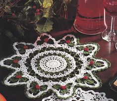 Crochet Christmas Doilies Crochet Patterns 4 Designs