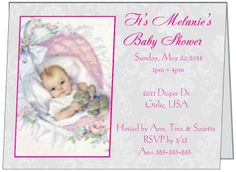 It doesn't get any cuter! This adorable baby shower invite is personalized to say anything you like on the inside and out. It comes in just about any color you want and this is just one of 5 absolutely delightful designs. The inside is just as unique with a surprise inside, check it out at www.irishihadthat...