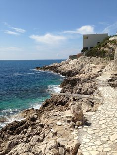 wonderful coast walk near Nice port.