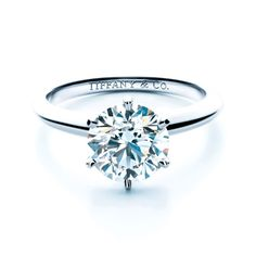 Awesome Jewelry Finder | Round Solitaire Diamond Engagement Ring | Martha Stewart Weddings picture #Tiffany #Wedding #Rings