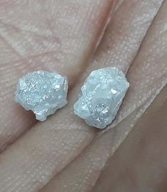 *PRODUCT DESCRIPTION : This listing is for excellent superb natural full light white small 2 pcs uncut raw rough diamond, which can be used for making raw rough diamond necklace, bracelet,errings and more any costmized jewelry, this diamond has their origin to south africa and is conflict Uncut Diamond, Diamond Sizes, Rough Diamond, Spark Light, Color Shapes, Colour, Quartz Cluster, Raw Gemstones, Silver Rounds