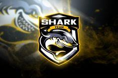 Shark Team - Mascot & Esport Logo by aqrstudio on Envato Elements Game Logo Design, Logo Design Template, Logo Templates, E Sports, Coreldraw, Cores Rgb, Logo Esport, Shark Illustration, Envato Elements