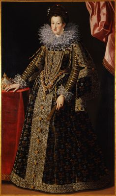 Caterina de' Medici and her starched lace collar