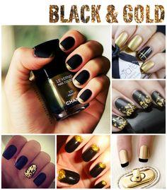 stylelab beauty blog notd nail art inspiration black and gold 1