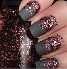 2015 neue jahre nageldesigns Maniküre des neuen Jahres 2015 – das Jahr der Goa 2015 new years nail designs manicure of the new year 2015 – the year of the Goa … New Years Nail Designs, Black Nail Designs, Nail Designs With Glitter, Matte Nail Art, Acrylic Nails Almond Matte, Matte Gray Nails, Dark Grey Nails, Matte Gel, Gradient Nails