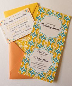 mexican wedding invitations « Lizzy B Loves ... bold and beautiful colors with tile inspired designs ...