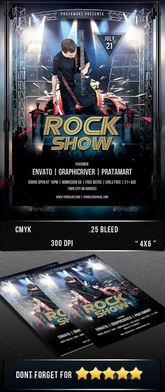 Rock Show by pratamart Other Collection: The PSD file is setup at 1275px x 1875px (4x6 with .25 bleeds) CMYK 300 DPI The PSD file is very well organise