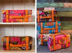 Kantha Fabric Trunks made by Soto Moto in India