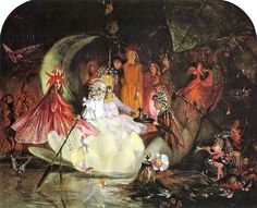 """John Anster Fitzgerald, """"The Fairy's Barque."""" From """"The Fairies' Passage: Journeys of the Fae"""" by Carolyn Emerick. www.CarolynEmerick.com"""