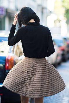 Puffy camel skirt