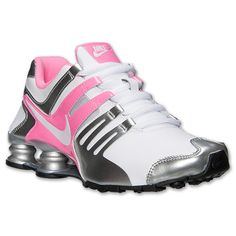 Women's Nike Shox Current Running Shoes | Finish Line | White/Pink Glow/Metallic Silver