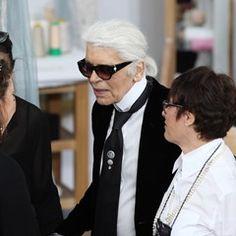 German designer Karl Lagerfeld presents Chanel collection in Paris
