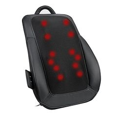Naipo Back Massager Back Massage Cushion Shiatsu Kneading with Tapping Heating for Full, Upper, Lower Back, Waist Back Massager, Health And Beauty, Cushions, Circular Motion, 3d, Free Time, Counter, Amazon, Home