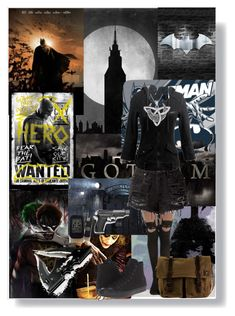 """""""Batman Begins"""" by izzy-wylde ❤ liked on Polyvore featuring Converse, Hot Topic, Carolina Glamour Collection and DamnDog"""