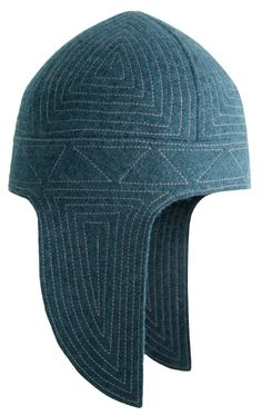 Kep Takyia - Kyrgyz national headdress. Suits actually everybody and looks quite contemporary and stylish. Quilted light blue felt hat. Composition: 100% wool and threads. Handmade by artisans of Tumar Art Group.