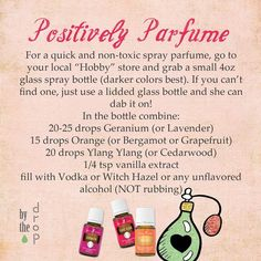 Essential Oils Room Spray, Yl Essential Oils, Essential Oil Perfume, Essential Oil Diffuser Blends, Young Living Essential Oils, Essential Oil Combinations, Perfume Recipes, Homemade Perfume, Cologne