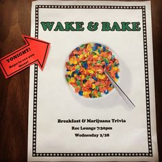Wake & Bake Alcohol and Drug Awareness Event ResLife RA Resident Assistant Successful