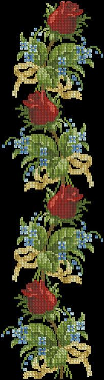 Gallery.ru / Фото #10 - Cross Stitch - pautinka-Lena Cross Stitch Bookmarks, Cross Stitch Rose, Cross Stitch Borders, Cross Stitch Baby, Cross Stitch Flowers, Cross Stitch Designs, Cross Stitching, Cross Stitch Embroidery, Embroidery Patterns