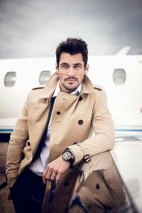 Manteau trench homme beige