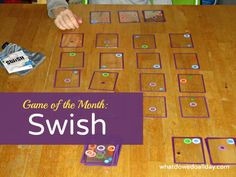 ThinkFun's Swish is a mentally challenging card game for kids and adults that exercises patience and spatial intelligence.
